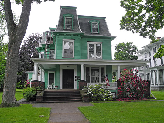 Alexander Eustace House, ca. 1886, 401 Maple Avenue, Elmira, NY, National Register
