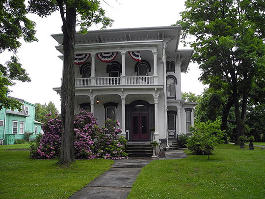 John Brand Sr. House, ca. 1870, 405 Maple Avenue, Elmira, NY, National Register