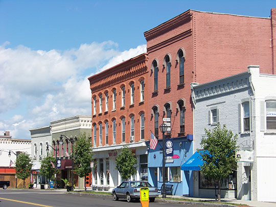 Hanover Square Historic District, Intersection of Franklin and Main Streets, Horseheads, NY, National Register