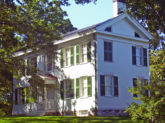 Dr. Abraham Jordan House, ca. 1822, Route 23, Claverack, Columbia County, NY, National Register