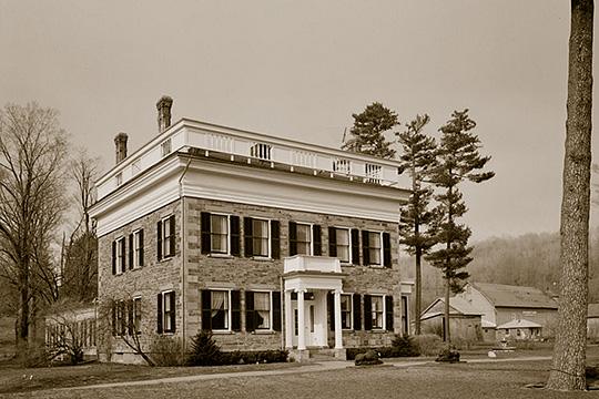 Samuel Gilbert Hathaway House (Hathaway Hall), ca. 1844, Solon Road, Cortland, NY.