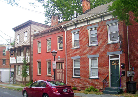 Homes on Union Street, Union Street Historic District, Poughkeepsie, NY, National Register