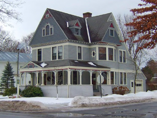 Home at 201 South Main Street, ca. 1896, Northville Historic District, Northville, NY