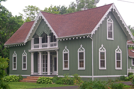 Gifford-Walker Farmhouse, ca. 1870, 7083 North Bergen Road, North Bergen, NY, National Register