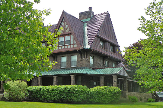 Emma FLower Taylor Mansion, ca. 1896, 241 Clinton Street, Watertown, NY, National Register