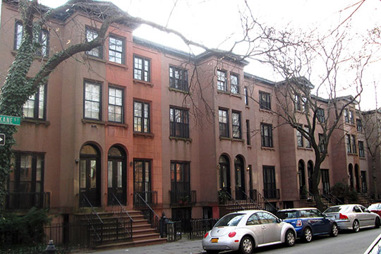 Row homes,Kane Street, Cobble Hill Historic District, Brooklyn, NY, National register