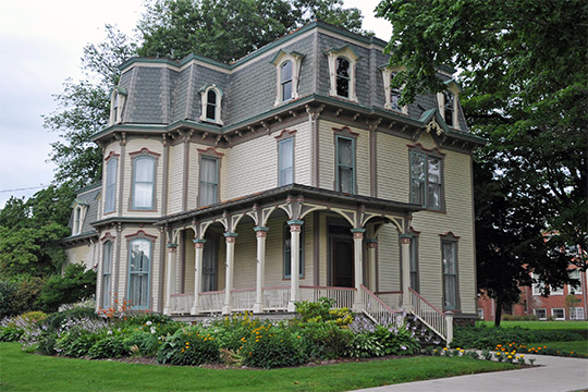 Edward Harrison House, ca. 1877, 75 College Street, Brockport, NY, National Register