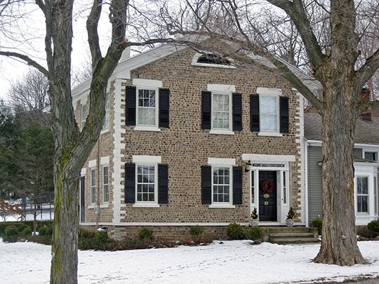 Sheldon Cobblestone House, ca. 1833, 21 Mendon-Ionia Road, Mendon, NY, National Register