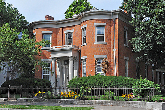 Amon Bronson House, ca. 1832, S. Plymouth Avenue, Third Ward Historic District, Rochester, NY, National Register