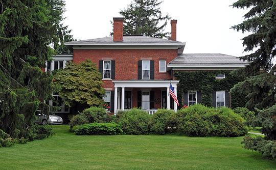 Romanta T. Miller House, ca. 1870, 1089 Bowerman Road, Wheatland, NY, National Register.