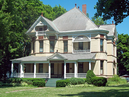 Thomas Oliver House, ca. 1892, 175 Locust Street, Lockport, NY, National Register