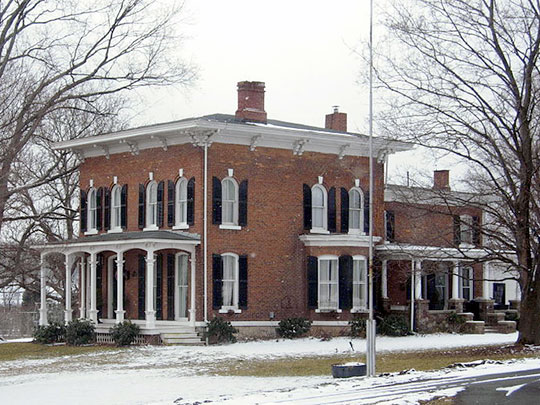 Mrs. I. L. Crego House, ca. 1870, 7979 Crego Road, Baldwinsville, NY, National Register