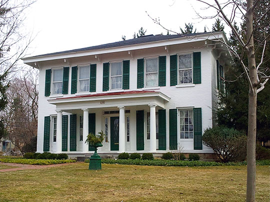 Levi Snell House, ca. 1855 & 1946, 416 Brooklea Drive, Fayettevile, NY, National Register