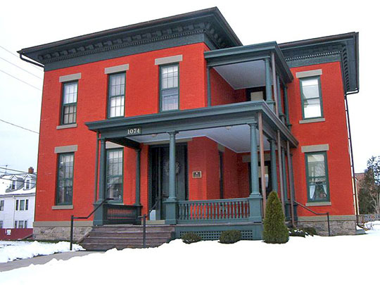 Harriet May Mills House, ca. 1858, 1074 West Genesee Street, Syracuse, NY, National Register