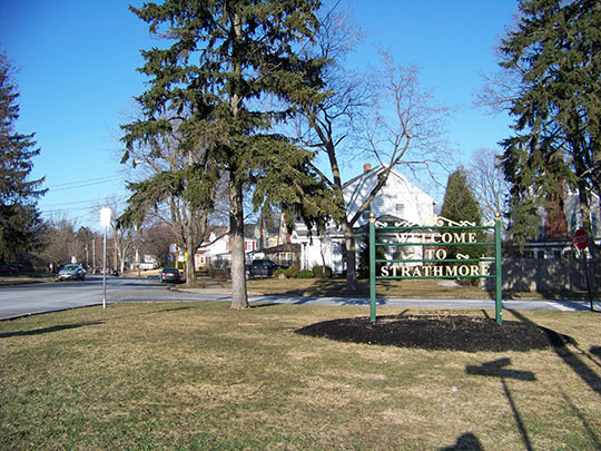 Entrance to Strathmore by the Park Historic District, Syracuse, NY, National Register