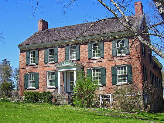 Nathaniel Hill Brick House, ca. 1768, Route 17K, Montgomery, NY, National Register
