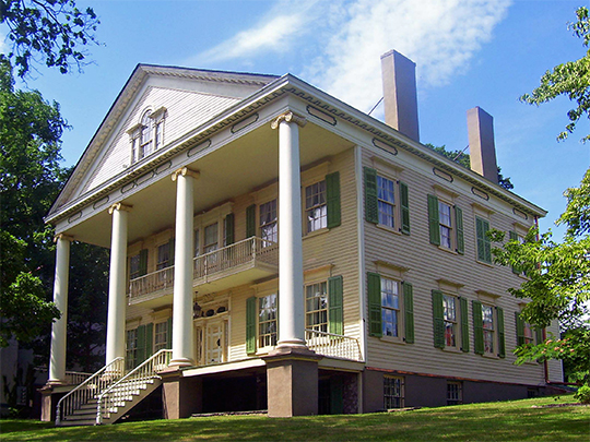 David Crawford House, ca. 1834, 189 Montgomery Street, Newburgh, NY, National Register