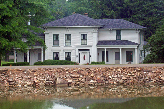 Servoss House, ca. 1830, Route 41,Erie Canal, Medina, Town of Ridgeway, NY, National Register