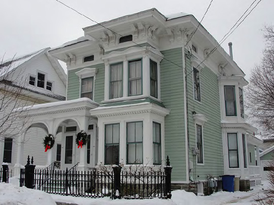 Home on West 3rd Street, Kingsford Historic District, Oswego, NY, National Register