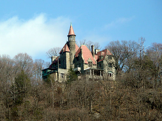 Castle Rock, ca. 1881, NY Route 9-D, Garrison, NY, National Register