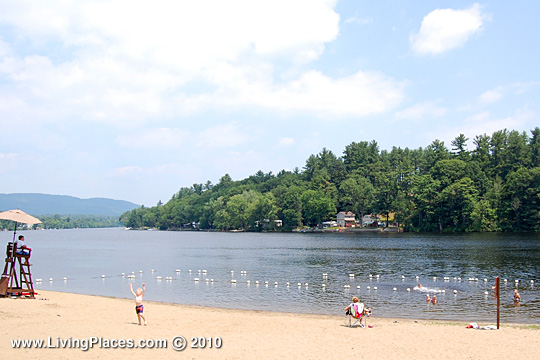 Beach along the Hudson River in Corinth Village, Saratoga County NY
