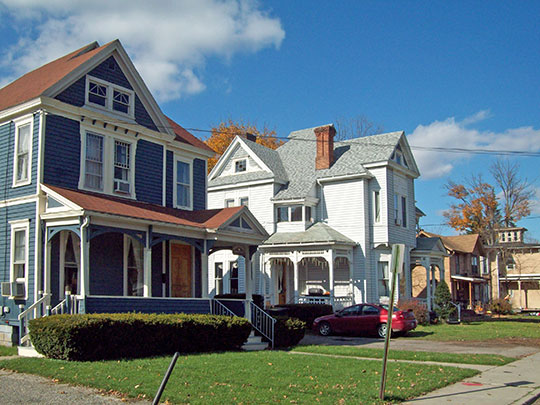 Homes, Gansevoort-East Steuben Streets Historic District, Bath, NY, National Register