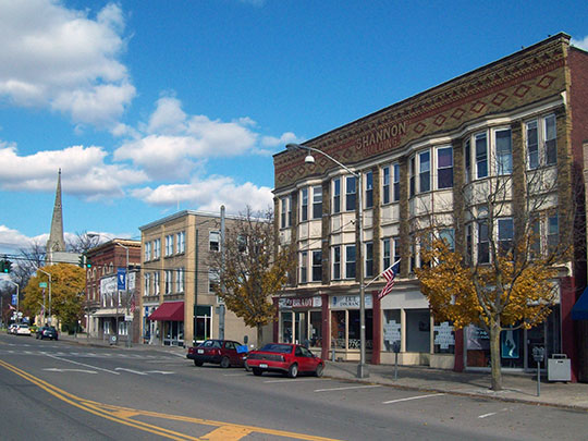 Commercial area, Liberty Street Historic District, Bath, NY, National Register