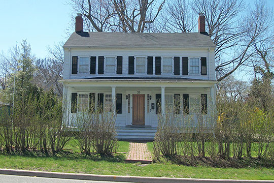 Ezra C. Prime House, ca. 1855, 35 Prime Avenue, Huntington, NY, National Register