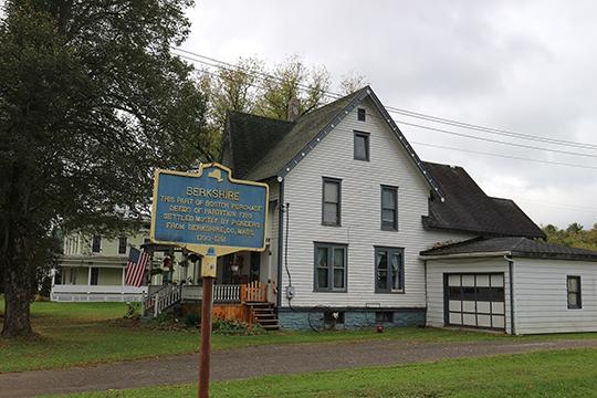 Building in the Berkshire Village Historic District, Berkshire, NY, National Register