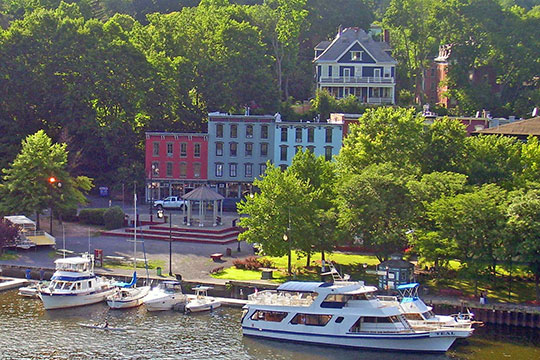 Waterfront area of Kingston, NY, along Rondout Creek, National Register
