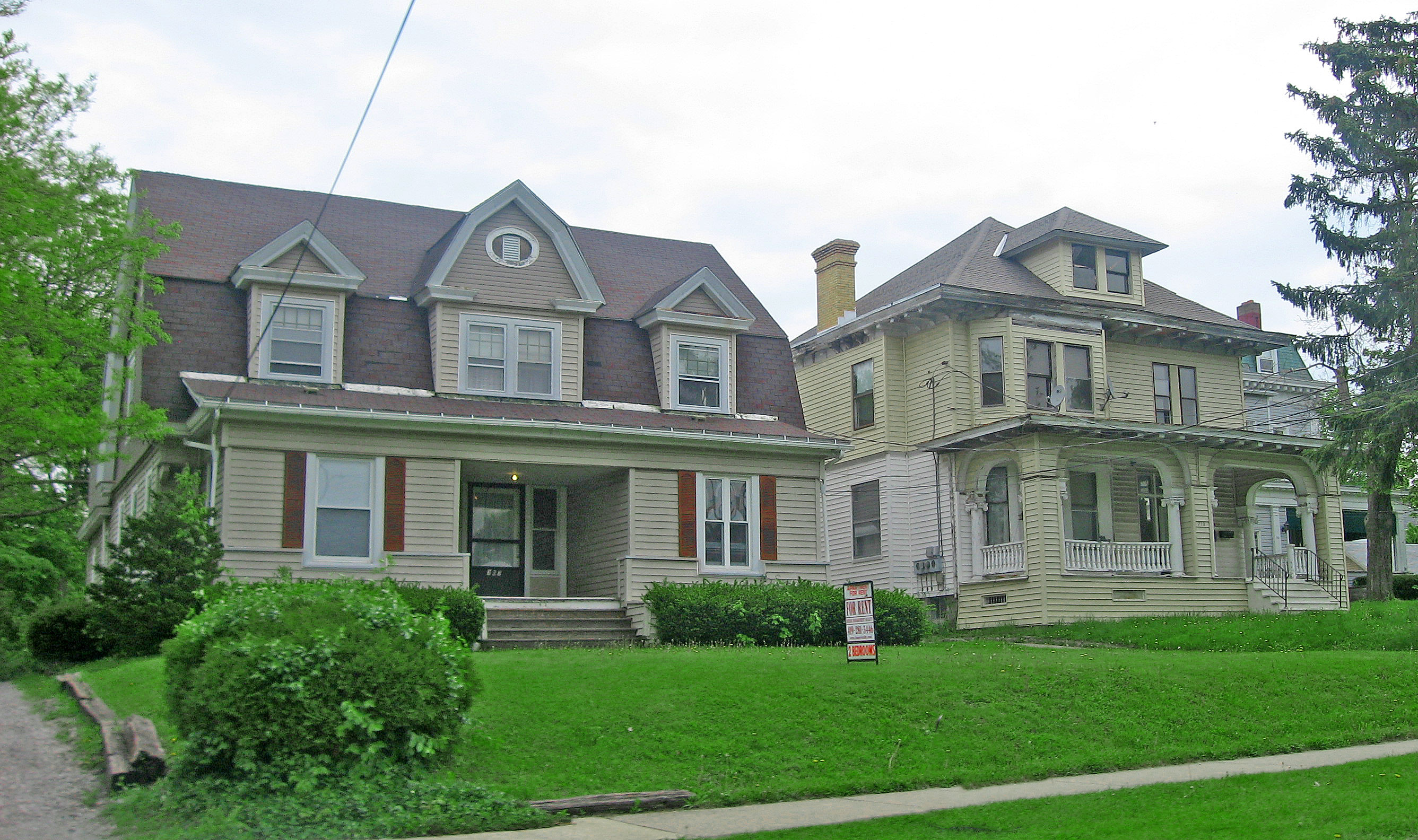 Homes on Center Street (1894 and 1921), Center Street Historic District, Ashland, OH, National Register