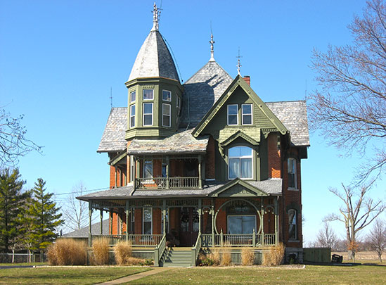 Julius Boesel House, ca. 1895, Quellhorst Road, German Township, New Bremen, Auglaize County, OH, National Register