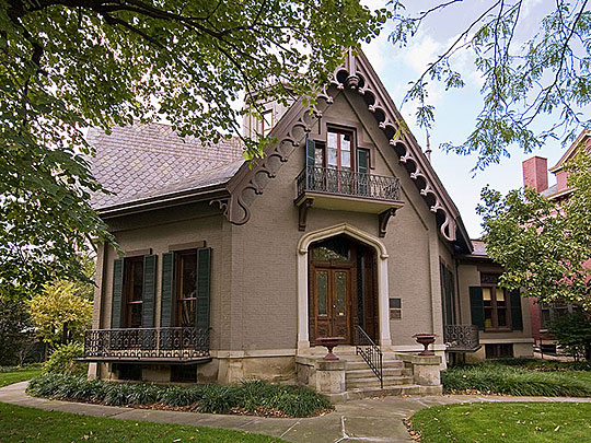 Lane-Hooven Octagonal House, ca. 1863, 319 North 3rd Street, Hamilton, OH, National Register