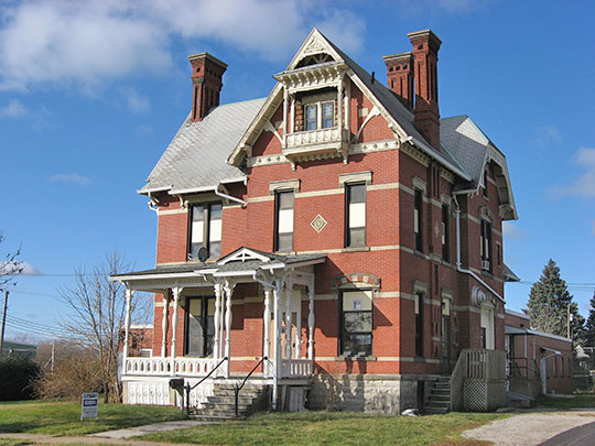 August Kuebeler House, ca. 1885, 1319 Tiffin Avenue, Sandusky, OH, National Register