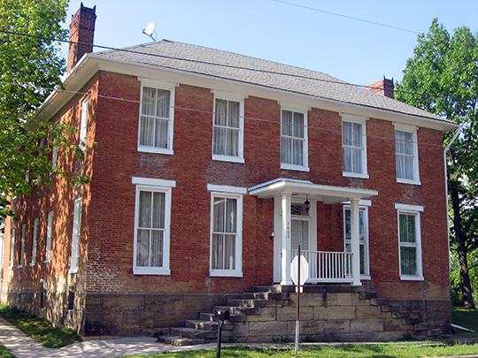 General Asahel Stone Mansion, National Register, Evansville, IN, 1872, orange street