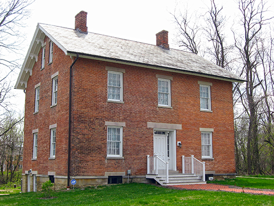 George and Christina Ealy House, ca. 1860, 6359 Dublin-Granville Road, New Albany, OH, National Register