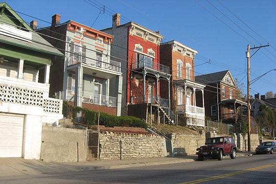 Houses on River Road, Sedamsville River Road Historic District, Cincinnati, OH, National Register