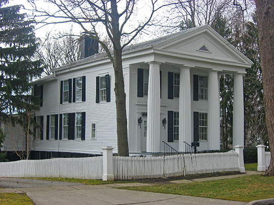 House of Four Pillars, ca. 1835, 322 East Broadway, Maumee, OH, National Register
