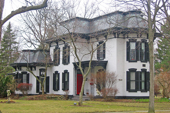 Gillett-Shoemaker-Welsh House, ca. 1883, 133 North Fourth Street, Waterville, OH, National Register