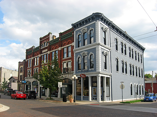 Intersection of Fifth and Jackson Streets, Oregon Historic District, Dayton, OH, National Register