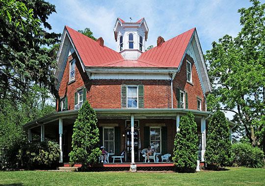 Ezekiel B. Zimmerman Octagon House, ca. 1883, Route 57, Marshallville, OH, National Register