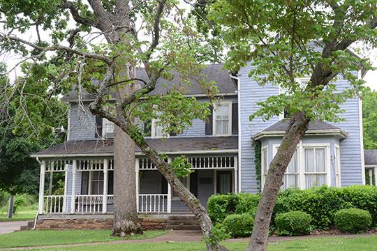 Rosamund (Gideon Morgan House), ca. 1887, 527 Seminary Avenue, Tahlequah, OK, National Register