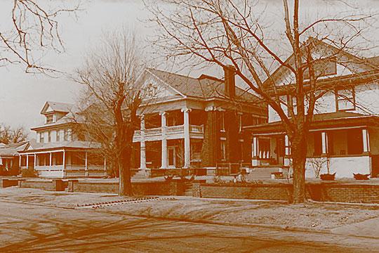 Homes on West Elm Avenue, Kenwood Historic District, Enid, OK, National Register