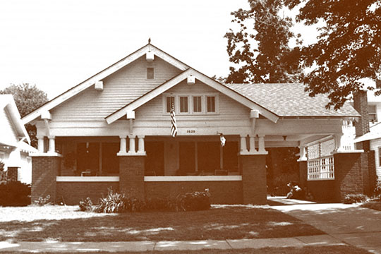 Home on West Broadway Avenue, ca. 1920, Waverley Historic District, Enid, OK, National Register
