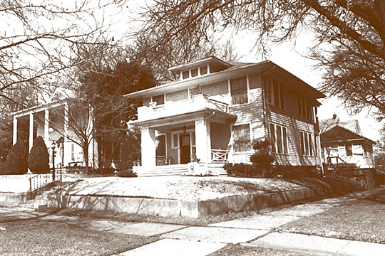 Homes on Boston Street, Kendall Place Historic District, Muskogee, OK, National Register