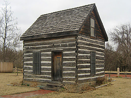 Beard Cabin, ca. 1892, 614 East Main Street, Shawnee, OK, National Register