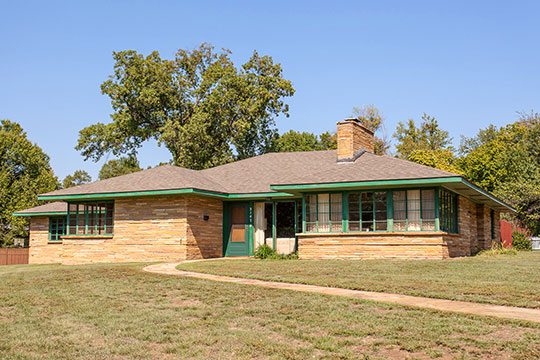 Home in the Ranch Acres Historic District, Tulsa, OK, National Register