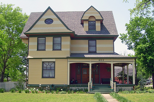 John W. Gibson House, ca. 1896, South McQuarrie Avenue, Wagoner, OK, National Register
