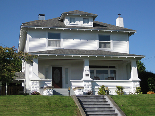 Leo J. Cary House, ca. 1912, 572 East First Street, Coquille, OR, National Register