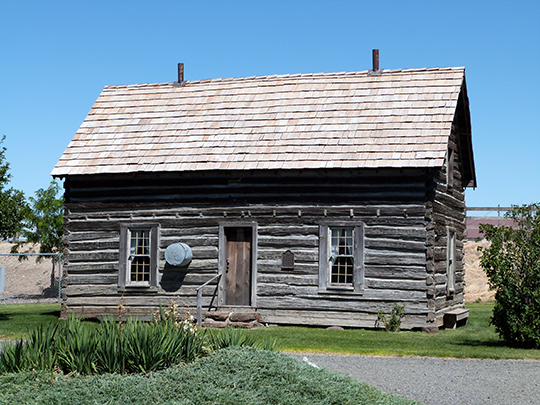 Silas A. Rice Log House, ca. 1884, Burns Park (Route 19), Condon, OR, National Register